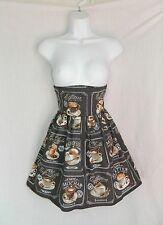 Cute coffee cafe skirt pinup high waist rockabilly lolita fashion chocolate emo