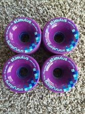 Orangatang Stimulus Longboard Wheels Purple 70mm 83a Loaded Co