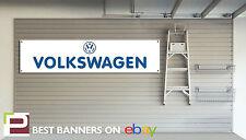 Volkswagen Retro Workshop Garage Banner Golf, Polo, Passat, GTi VW Beetle
