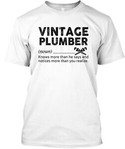 Vintage Plumber Classic T-Shirt - 100% Cotton By Epic Professions