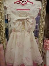 **US SELLER**FLORAL BOWTIE RIBBON CUTE DRESS SHIBUYA HIME GYARU LIZ LISA JAPAN