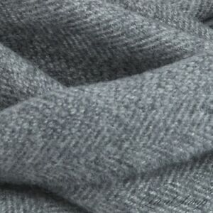 BEAUTIFUL Anonymous 100% Cashmere Gravel Grey Herringbone Flannel Scarf Muffler