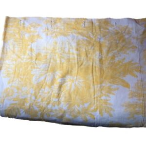 Pottery Barn 72x72 Matine Toile Shower Curtain LINEN Blend Yellow FRENCH COUNTRY