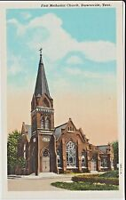 1930's The First Methodist Church in Brownsville, TN Tennessee PC