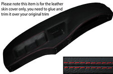 RED STITCH DASH DASHBOARD LEATHER SKIN COVER FITS BMW 5 SERIES E28 1981-1987
