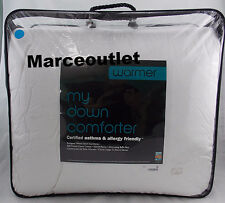 "DEPARTMENT STORE ""WARMER"" My Down FULL / QUEEN European White Down Comforter"