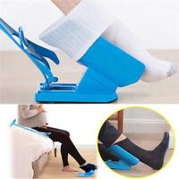 Sock Aid slider Easy On Off Pulling Assist for Elderly Disabled Handicapped Blue
