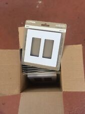 Lutron CW-2-WH Dual Gang Claro Wall Plate White You Get 20 Of Them