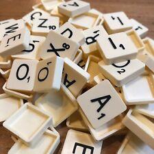 Scrabble Original Spare Tiles Black on Ivory, Hollowed Back - Choose from list
