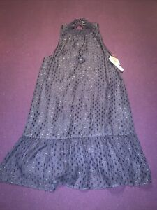 Speechless Dress SIZE MEDIUM , NAVY Pattern