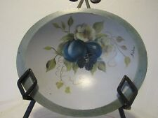 WESTON BOWL MILL WESTON VERMONT HAND PAINTED WOOD FRUIT FLORAL ARTIST SIGNED