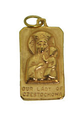 The Black Madonna Our Lady of Czestochowa 24K Gold Plated Jewelry New Charm New