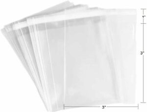 100 Pcs Clear Flat Cello/Cellophane Bags Good for Candies, Cookies,...