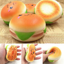 10CM Simulation Sesame Hamburger Toys Squishy Slow Rising Bread Soft Bun Gifts