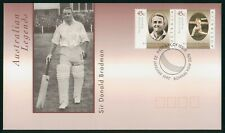 MayfairStamps Australia FDC 1997 Sir Donald Bradman Cricket Pair First Day Cover