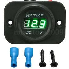 12-24V Car Marine Motorcycle LED Digital Voltmeter Voltage Meter Battery Gauge