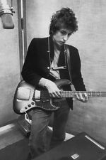Bob Dylan In Studio Music Poster Print Fender Bass Harmonica New 24x36