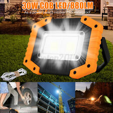 30W COB LED Flood Lamp Work Light Emergency USB Rechargeable IP65