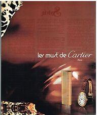 Publicité Advertising 1976 Briquet et Montre Les Must de Cartier