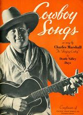 1934 Sheet Music Cowboy Songs Pacific Borax Company