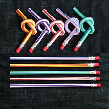 5 x Biegsame Bleistifte + Radiergummi Flexibel Kinder Geburtstag  Party Gag