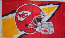 KANSAS CITY CHIEFS FLAG HELMET NFL NEW 3x5ft BANNER