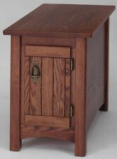 #902 Solid Oak Storage Mission End Table