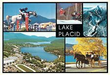 Lake Placid Adirondack Mountains Postcard