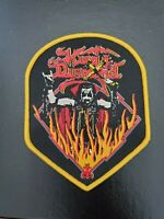 "KING DIAMOND Music Band ""Flames"" Patch Jacket, T-Shirt Iron on Yellow Badge"