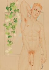 """Male Nude Gay Interest """"Red Rapture"""" Original, NOT a copy by Mario Bieletto"""
