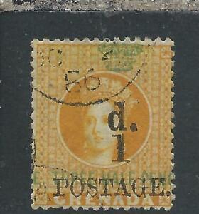 GRENADA 1888-91 1d on 1½d ORANGE FU 37 CAT £50