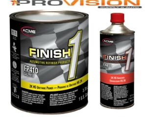 FINISH 1 2K HS URETHANE PRIMER; GRAY GALLON KIT WITH ACTIVATOR(FP410 WITH FH411)