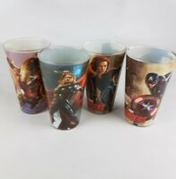 MARVEL AVENGERS AGE OF ULTRON 16oz GLASS SET CAPTAIN AMERICA IRON MAN Set of 4
