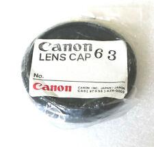 Canon 58mm Lens Cap 63 - Genuine - Push On - NEW