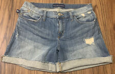 Rock & Republic Bumpershoot Too Fly Jean cut off Shorts Womens Size 10 Blue