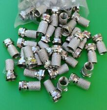 (10 PCS)  F-Type Male Twist On Connectors for RG6 Coaxial TV Cable