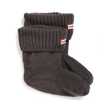 Hunter Women Half Cardigan Boot Short Socks Dark Slate Size L B0252