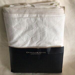 Donna Karan Essentials CITY STRIPE Bedskirt Ivory Queen New