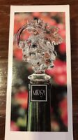 Mikasa Clear Austrian Crystal Bottle Stopper  FRUIT COLLECTION Cluster of Grapes