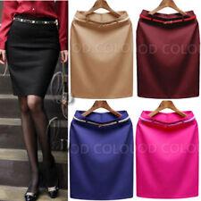High Waist Knee-Length Petite Skirts for Women