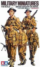 Tamiya 35223 1/35 Military Figure Model Kit WWII British Infantry on Patrol Set