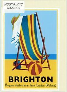 Nostalgic c.1930's BRIGHTON hand made greeting card. blank inside. (3308)