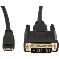 Rocstor Premium 10ft Mini Hdmi To Dvi-d Cable - M/m - Dvi/hdmi For Audio/video