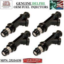 P#25334150 -2004-2005 Chevrolet Aveo 1.6L I4- Reman 4x OEM Delphi Fuel Injectors