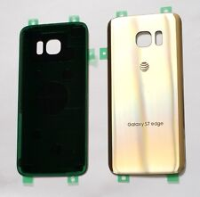 Original OEM Back cover Glass For Samsung Galaxy S7 Edge AT&T G935A~ GOLD ~ US