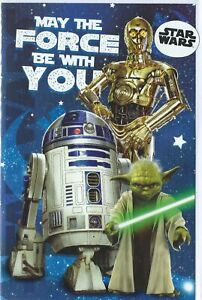 Star Wars - May The Force Be With You Birthday Card