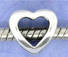 Plata Corazón Abierto Amor pulsera con dijes del grano Regalo PD diapositiva granos encantos