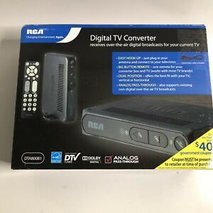 RCA Digital TV Converter Box Digital to Analog with Remote - BRAND NEW