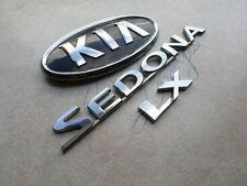 06-09 Kia Sedona LX Rear Trunk 36353-1F010 Emblem 86331-1G000 Logos Decals Set