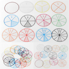 12pc Math Fraction Circles for Children Kids Student School Educational Toy JDUK
